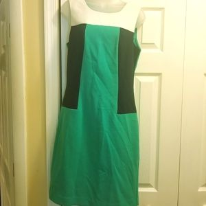 Green, Navy and White Banana Republic Dress